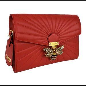 Queen Margaret Clutch Handbag in Hibiscus Red